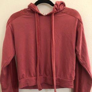 Garage crop pullover hoodie